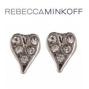 NWT Rebecca Minkoff Baby Heart Stud Earrings